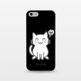 iPhone 5/5E/5s  My Lovely Kitty by Mitxel Gonzalez (cat,kitty,kitten,skull,skulls,funny,cool,cats,kitty phonecase,top design,kawaii,anime,manga,animals,japanese,cats phonecase)