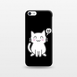 iPhone 5C  My Lovely Kitty by Mitxel Gonzalez (cat,kitty,kitten,skull,skulls,funny,cool,cats,kitty phonecase,top design,kawaii,anime,manga,animals,japanese,cats phonecase)