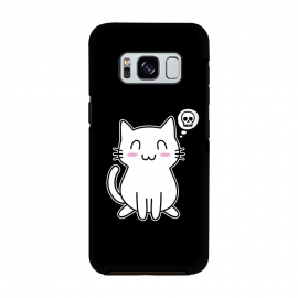 My Lovely Kitty by Mitxel Gonzalez (cat,kitty,kitten,skull,skulls,funny,cool,cats,kitty phonecase,top design,kawaii,anime,manga,animals,japanese,cats phonecase)