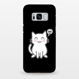 Galaxy S8+  My Lovely Kitty by Mitxel Gonzalez (cat,kitty,kitten,skull,skulls,funny,cool,cats,kitty phonecase,top design,kawaii,anime,manga,animals,japanese,cats phonecase)