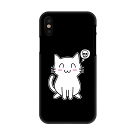 iPhone X  My Lovely Kitty by Mitxel Gonzalez (cat,kitty,kitten,skull,skulls,funny,cool,cats,kitty phonecase,top design,kawaii,anime,manga,animals,japanese,cats phonecase)