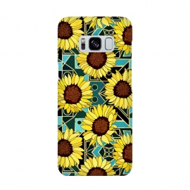 Sunflowers & Geometric Gold & Teal  by Tigatiga