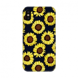 iPhone X  Navy - Sunflowers Are The New Roses! by Tigatiga