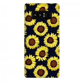 Galaxy Note 8  Navy - Sunflowers Are The New Roses! by Tigatiga
