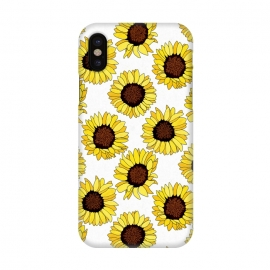 iPhone X  Sunflowers Are The new Roses! - White  by Tigatiga