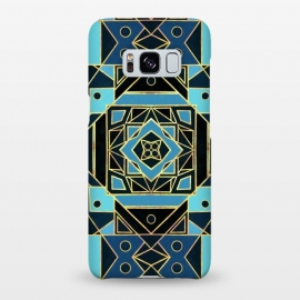 Galaxy S8+  Navy & Gold Art Deco  by Tigatiga