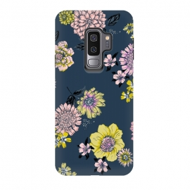 Galaxy S9+  Bright flowers on blue by Susanna Nousiainen