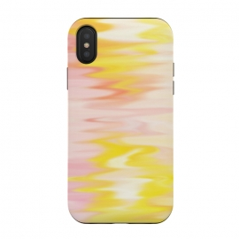 iPhone Xs / X  Pink yellow abstract by