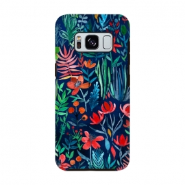 Galaxy S8  Tropical Ink Watercolor Garden by Micklyn Le Feuvre