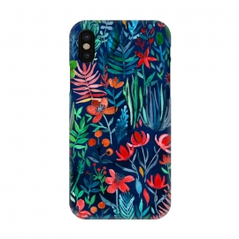 iPhone X  Tropical Ink Watercolor Garden by Micklyn Le Feuvre