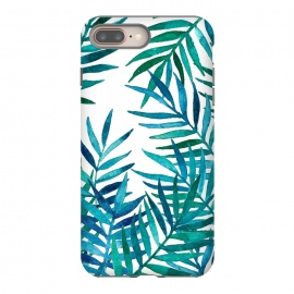 Watercolor Palm Leaves on White by Micklyn Le Feuvre