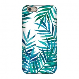iPhone 6/6s  Watercolor Palm Leaves on White by Micklyn Le Feuvre