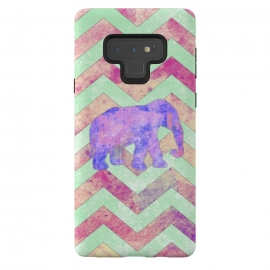 Galaxy Note 9  Elephant Mint Green Chevron Pink Watercolor by  ()