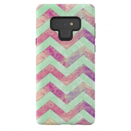Galaxy Note 9  Mint Pink Watercolor Chevron by  ()