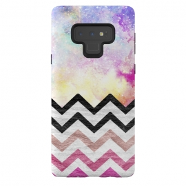 Galaxy Note 9  SC Watercolor Nebula Space Pink ombre Wood Chevron by  ()