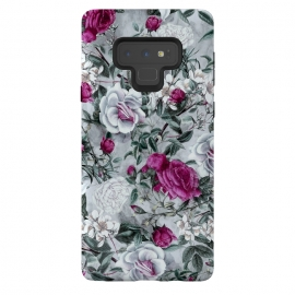 Galaxy Note 9  Floral Pattern V by Riza Peker (flowers,roses,romantic,art,design,RizaPeker)
