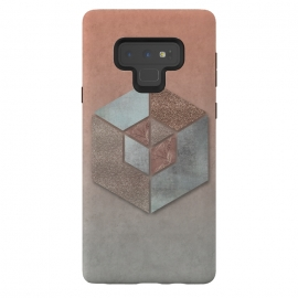 Galaxy Note 9  Copper Gray Hexagon by