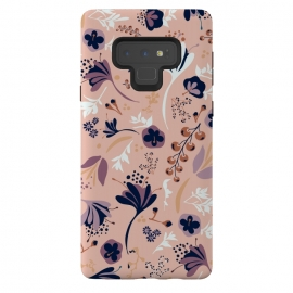 Galaxy Note 9  Beautiful Blooms on Salmon Pink by