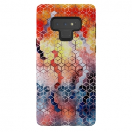 Galaxy Note 9  Pattern LVIII by Art Design Works (Graphic-design,Pattern,Watercolor,Iridescent,Abstract,Texture,Paint,Textured,Cube,Shape,Elements,Gold,Rose-gold,Luxury,Warm,Cold,Blue,Red,Yellow,Colors,Beautiful,cAse,art,arts cases,modern,style,designer,custom,print,graphic)