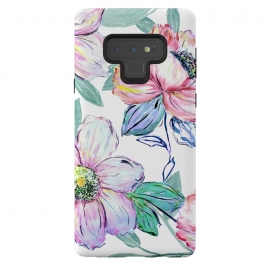 Galaxy Note 9  Romantic watercolor flowers hand paint design by