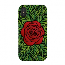 iPhone Xs / X  Red Rose by Majoih
