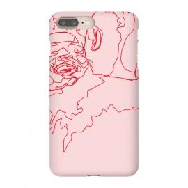iPhone 8/7 plus  Meet Cute by  (ink pen, sketch, love, soul mates, dating, fashion, style, people, woman, man, hug, pink, feminine)