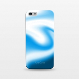 iPhone 5/5E/5s  Blue Wave by Ashley Camille (blue ,white,wavy,abstract)