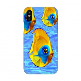 iPhone X  Fish 3D Cute Tropical Cutie on Clear Blue Ocean Water  by BluedarkArt