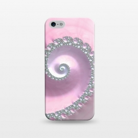 iPhone 5/5E/5s  Pink Pastel Fractal Swirl by Andrea Haase
