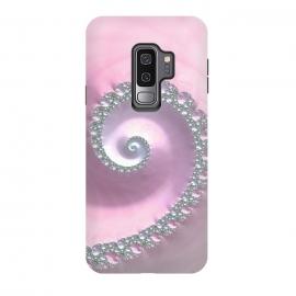 Galaxy S9 plus  Pink Pastel Fractal Swirl by  (fractal, julia , mathematics, delicate, elegant, ocean, wave, spiral, move, swirl, abstract, sacred, modern, fashionable,pink,feminine,girly,glamour,luxury,elegant)