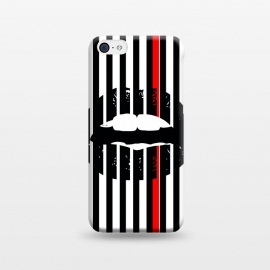 iPhone 5C  BLACK LIPS by W-Geometrics (lips,red,white,black,stripes,color)