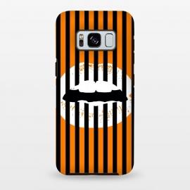 Galaxy S8 plus  WHITE LIPS by  (lips,white,black,orange,stripes,patterns)