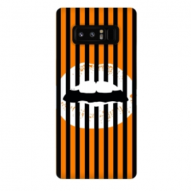 Galaxy Note 8  WHITE LIPS by W-Geometrics (lips,white,black,orange,stripes,patterns)