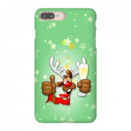 iPhone 8/7 plus  Reindeer Drunk Funny Christmas Character by