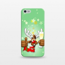 iPhone 5/5E/5s  Reindeer Drunk Funny Christmas Character by BluedarkArt