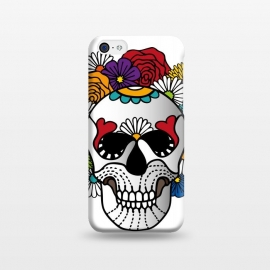 iPhone 5C  Bright Curly Sugar Skull by Majoih