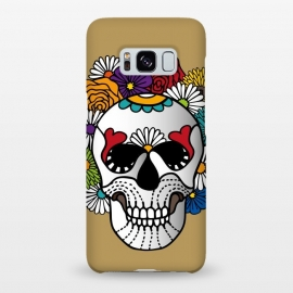 Galaxy S8+  Curly Sugar Skull by Majoih