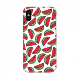 iPhone X  Watermelon by  (love,foods,food,summer,fruit,fruits,watermelon,nature,pattern,red,classy,minimalist)