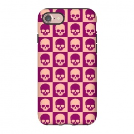 iPhone 8/7  Checkered Skulls Pattern II by Art Design Works
