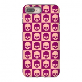 iPhone 8/7 plus  Checkered Skulls Pattern II by Art Design Works