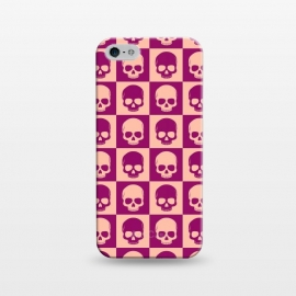 iPhone 5/5E/5s  Checkered Skulls Pattern II by Art Design Works