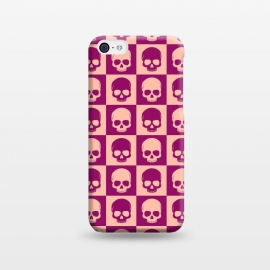 iPhone 5C  Checkered Skulls Pattern II by Art Design Works