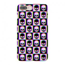 iPhone 8/7 plus  Glitch Checkered Skulls Pattern IV by