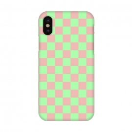 iPhone X  Checkered Pattern I by Art Design Works