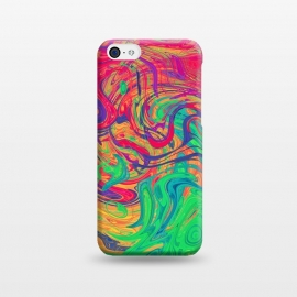 iPhone 5C  Abstract Multicolored Waves by Art Design Works