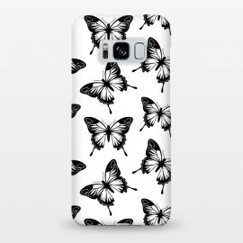 Galaxy S8+  Elegant butterflies by Martina (animal,pattern,black,nordic,scandinavian,nature,butterfly,insect,elegant,modern,minimalist,for her)