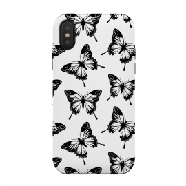 iPhone Xs / X  Elegant butterflies by  (animal,pattern,black,nordic,scandinavian,nature,butterfly,insect,elegant,modern,minimalist,for her)