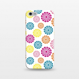 iPhone 5/5E/5s  Bright Flowers by Martina (flowers,nature,floral,bright,colorful,modern,graphic,illustration,pattern)