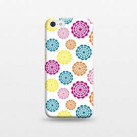 iPhone 5C  Bright Flowers by Martina (flowers,nature,floral,bright,colorful,modern,graphic,illustration,pattern)