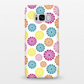 Galaxy S8+  Bright Flowers by Martina (flowers,nature,floral,bright,colorful,modern,graphic,illustration,pattern)